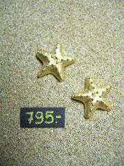Bild:Ohrschmuck,Ohrstecker,Gelbgold750,18kt,Seesterne,gekratzt,Handarbeit
