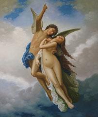Amore e psiche - olio su tela dimensione 50 x 60