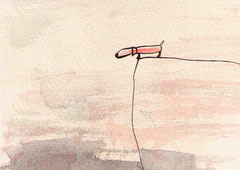 ABHANG (HUND),  10X14,5 cm 90,-€