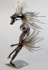 Cœur du dragon Hauteur  66cm  Inox