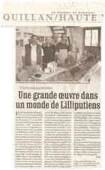 """- Article dans La Dépêche du 5/10/2008 : """"Une grande oeuvre dans un monde de Lilliputiens"""""""