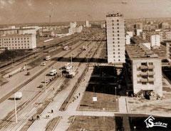 Трамвайные пути на проспекте  Мусы Джалиля. 1975 год.