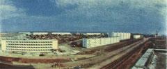 Общий вид на строящуюся линию на проспекте Мусы Джалиля. 1972 год.