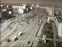Трамвайные пути на проспекте Мусы Джалиля.  Конец 1970-х годов.