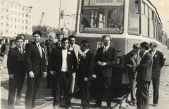 Открытие трамвайного движения до Ремонтно-инструментального завода (РИЗ). 1973 год.