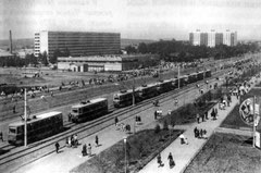 Трамваи на проспекте Мусы Джалиля.
