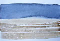 'Plage Normandie' 4, aquqrel op papier, 12.5x17.5 cm / Private collection in The Netherlands