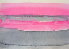 'Schemering' 2, Aquqrel op papier, 12.5x 17.5 cm