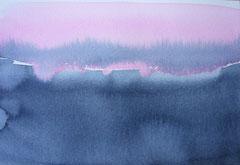 'Schemering' 1, Aquqrel op papier, 12.5x 17.5 cm