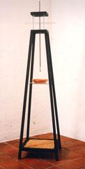 senza titolo. legno,vetro,terracotta,metallo, grano. 1993
