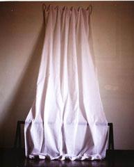 Tenda. Stoffa, ottone, legno.Misure variabili. 1993