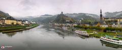 Panoramafotografie: Cochem met Reichsburg en Moezel.