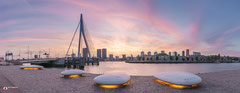Panoramafoto van de Erasmusbrug te Rotterdam