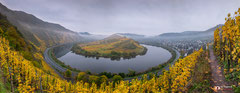 Panoramafotografie: Ediger Eller nabij Bremm (Duitsland)