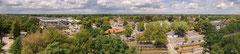 Panoramafoto van Nunspeet (Gelderland, Nederland) gelegen op de Veluwe