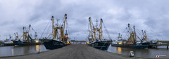 Panoramafotografie: De buitenhaven van Stellendam (Zuid-Holland, Nederland)