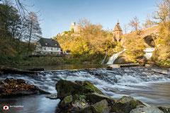 Landschapsfotografie: Burg Pyrmont nabij Roes (Rijnland-Palts, Duitsland).