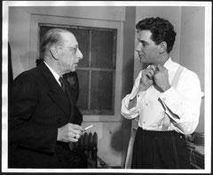 Bernstein con, Ígor Stravinski, 1946