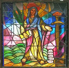 Calenzana - Eglise Saint-Blaise - Chapelle d'hiver (vitrail)
