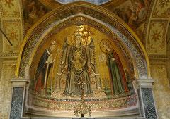 Naples - Basilique Sainte-Restitude - Mosaïque (Lello da Spoleto 1532)