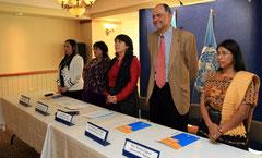 Autoridades de Naciones Unidas, del Estado guatemalteco y otras instancias, participaron en el lanzamiento de ONU Mujeres, una entidad que busca la igualdad de género y el empoderamiento de las mujeres, tanto de Guatemala como del mundo.
