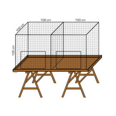 Geflügelpark Nr. 4, aufzustellen in einer Etage auf Böckli