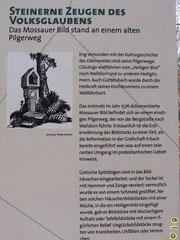 """Tafel des Geo-Parks zum """"Mossauer Bildstock"""""""