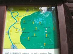 """Tafel zum """"Lärmfeuer"""" an der Ihrig-Hütte"""