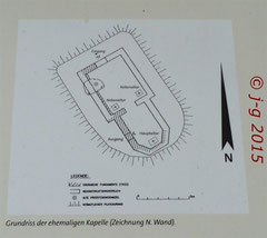 Grundriss der ehemaligen Kirche - Ausschnitt aus Geo-Park-Tafel