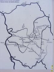 Karte zu den Standorten des Lärmfeuer - Teil der Geo-Park-Tafel