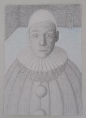 Pierrot   2012   Bleistift/Holzstift   20x30 cm