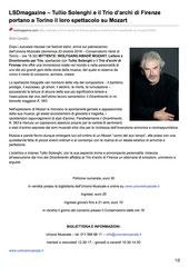 Tullio Solenghi e il Trio d'archi di Firenze portano a Torino il loro spettacolo su Mozart
