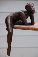 Anne Arnaud-sculpture en bronze patiné-2/8 galerie Gabel Biot-village-côte d'Azur