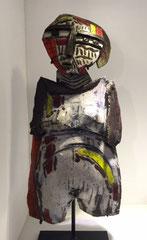 Dominique Allain création en raku-pièce unique.