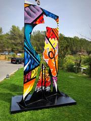 Faben et Laurent Brachelente-sculpture monumentale exposée à l'hotel Beachcomber  French Riviera Sophia Antipolis