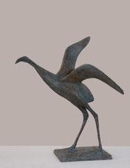 Pierre Yermia -Envol VI, 32 x 34 x 32 cm-bronze