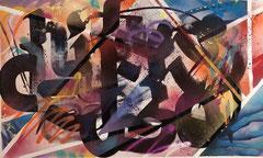 Faben- Acrylique -aerosol sur toile-158X95cm-Galerie Gabel -Biot