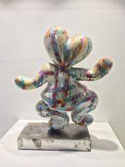 FABEN-Mister lover , sculpture en résine double face, piece unique, 52cm, Galerie Gabel, Biot, French Riviera, France