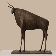 Pierre Yermia -Taureau II, Bronze -48 x 42 x13 cm