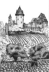 Weinberg Zeichenfeder und Tinte A4 (2007)
