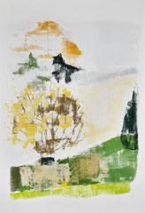 Mittelrain, 2015, 154 x 106 cm, printing ink on paper