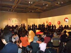 2008年 練馬区立美術館「瀬畑 亮  アーティストトーク&デモンストレーション」会場風景