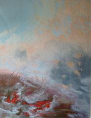 "Serie ""burn"", 2017, 100cm x 130cm, Öl auf Leinwand"