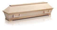 Sarg aus Multiplex Pappel  Tanne furniert  Farbe natur, patiniert hell, lackiert  Kastenfüsse  Palme geprägt  Holzgriffe 855  Kugelschrauben Gold /Antei Angehörige Fr. 1035.-