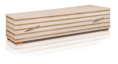 Kunstsarg aus Massivholz  Birke furniert, Eichen Hohlkehlen  Farbe ntur, lackiert  Eckfüsse  Metallgriffe Nr. 19 GOLD / Preis auf Anfrage
