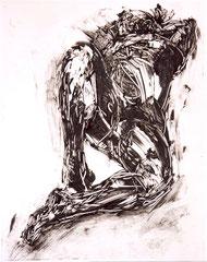Nu, monotype, 50/40 cm, 2000