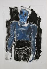 """""""Le cirque des mirages"""", monotype, 2011"""