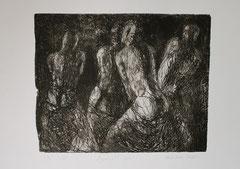Danse buto, aquatinte, 2002