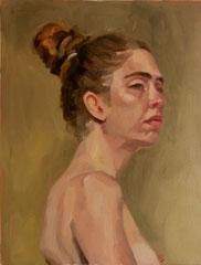 """""""Marie-Charlotte"""", huile sur toile, 35/27 cm, 2017"""