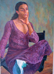 """Robe lilas"", huile sur toile, 92/65 cm, 2010"